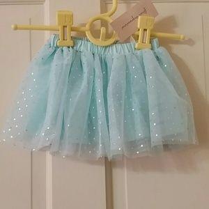 NWT. Light  blue baby  tutu skirt size 24 months